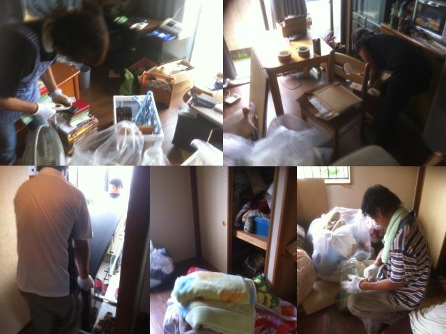 $遺品整理宮城仙台@スマイルライフみやぎブログ-仙台の家財整理作業風景1