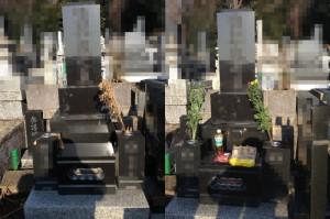 墓参り代行・墓石清掃・墓参り・宮城