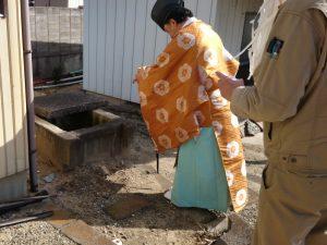 遺品整理後の家屋解体に伴う、お祓い (2)