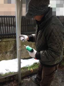 遺品整理前のガレージ屋根撤去|宮城県仙台市の遺品整理 (2)