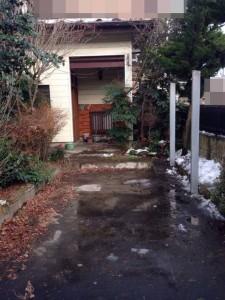 遺品整理前のガレージ屋根撤去|宮城県仙台市の遺品整理 (8)
