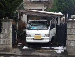 遺品整理前のガレージ屋根撤去|宮城県仙台市の遺品整理 (1)