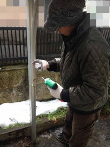 遺品整理前のガレージ屋根撤去 宮城県仙台市の遺品整理 (2)
