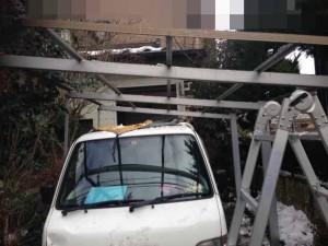 遺品整理前のガレージ屋根撤去 宮城県仙台市の遺品整理 (4)