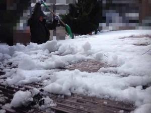遺品整理前のガレージ屋根撤去 宮城県仙台市の遺品整理 (7)