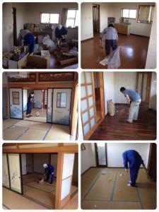 遺品整理後の清掃作業20150524