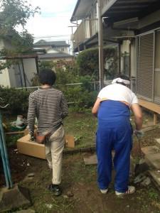 遺品整理後の庭の残置物整理