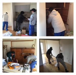 集合住宅での遺品整理作業