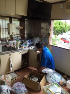 台所での遺品整理|宮城仙台の遺品整理